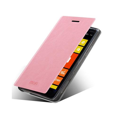 MOFI (Rosa) Nokia Lumia 830 Läder Flip Fodral