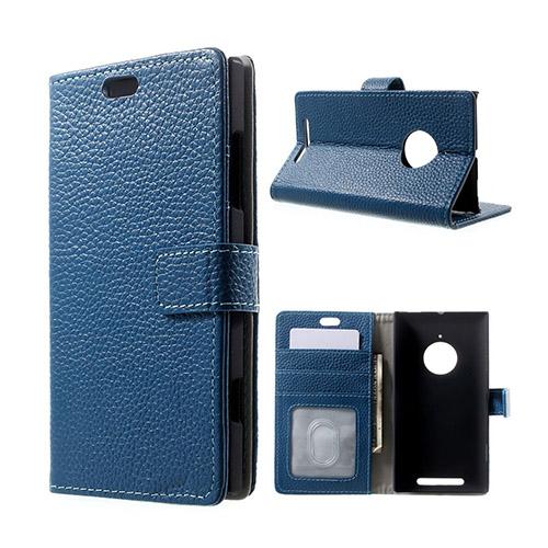 Fridell (Blå) Nokia Lumia 830 Flip-Fodral (Äkta Läder)