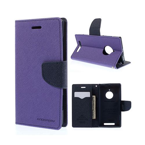 Mercury Nokia Lumia 830 Läder Fodral med Korthållare – Lila