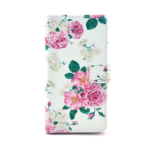 Moberg Nokia Lumia 830 Läder Stativ Fodral – Vackra Blommor