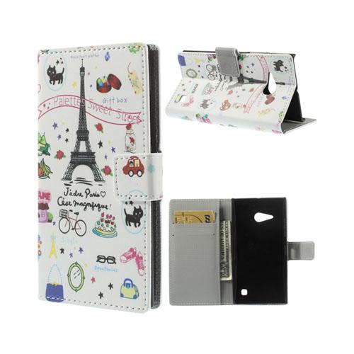 Moberg (Eiffeltornet) Nokia Lumia 730 Läder Flip Fodral
