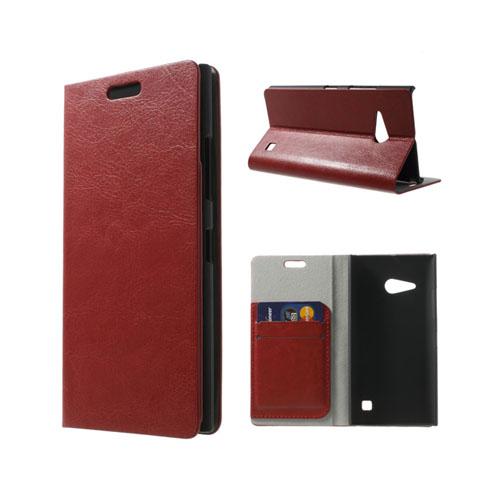 Mankell (Röd) Nokia Lumia 730 Läder Flip Fodral