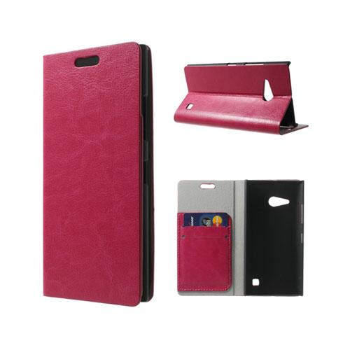 Mankell (Het Rosa) Nokia Lumia 730 Läder Flip Fodral