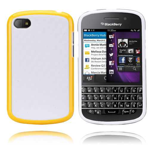EdgeWhite (Gul) BlackBerry Q10 Skal