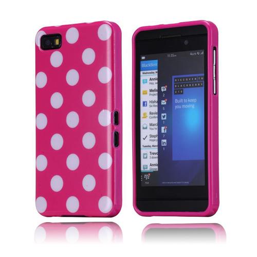 Polka Dots (Rosa) BlackBerry Z10 Skal