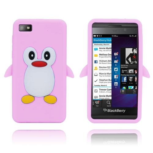 Penguin (Ljus Rosa) BlackBerry Z10 Silikonskal