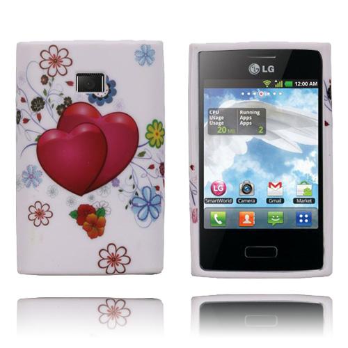 Symphony (Röda Hjärtan) LG Optimus L3 Skal