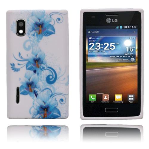 Symphony (Blå Blommor) LG Optimus L5 Skal