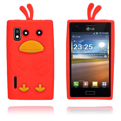 Anka (Röd) LG Optimus L5 Skal