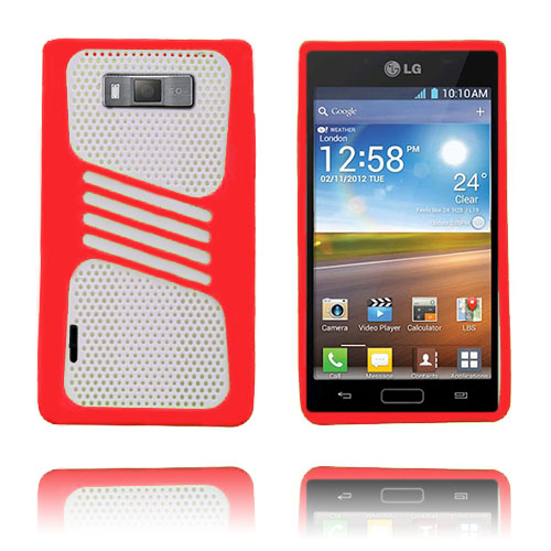 Atlantic (Röd) LG Optimus L7 Skal