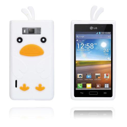 Anka (Vit) LG Optimus L7 Silikonskal