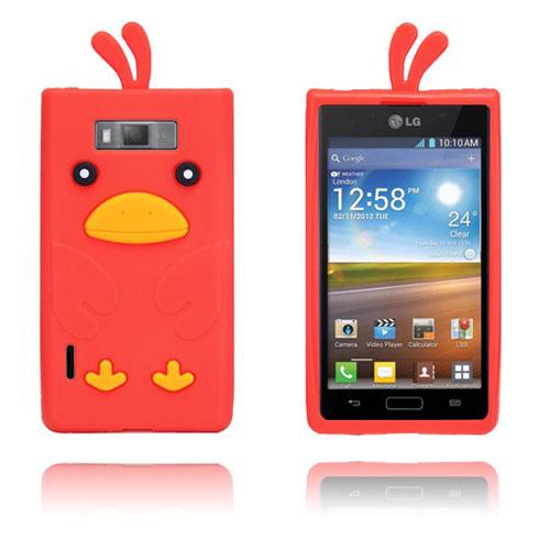 Anka (Röd) LG Optimus L7 Silikonskal