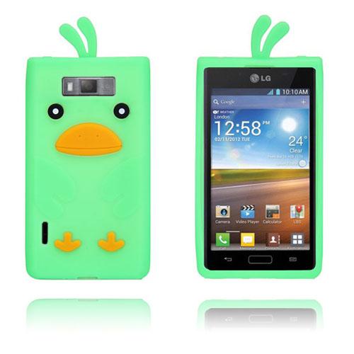 Anka (Grön) LG Optimus L7 Silikonskal