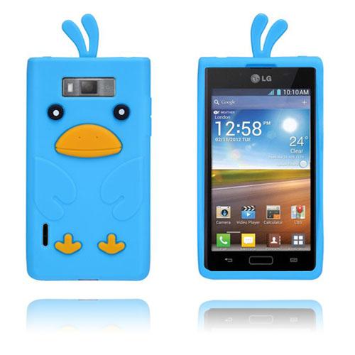 Anka (Ljusblå) LG Optimus L7 Silikonskal