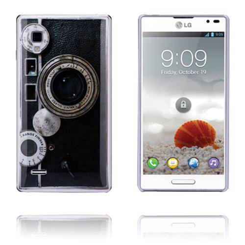Retro Camera (Svart) LG Optimus L9 Skal