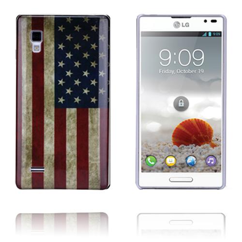 USA Flag LG Optimus L9 Skal