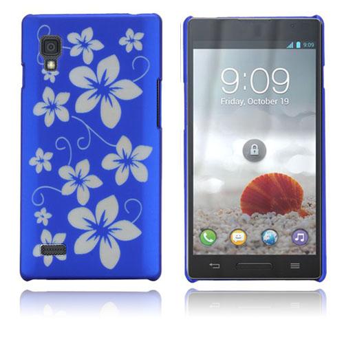 Flowers (Blå) LG Optimus L9 Skal