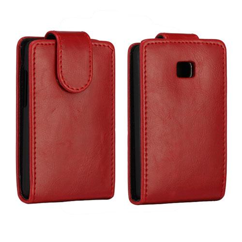 Wall Street (Röd) LG Optimus L3 II Läderfodral