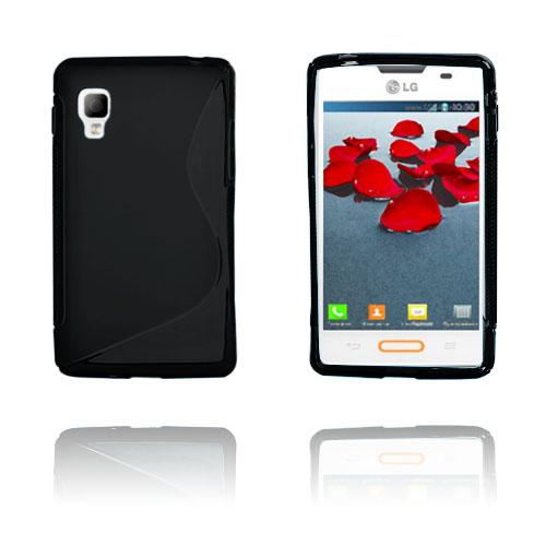 S-Line (Svart) LG Optimus L5 II Skal
