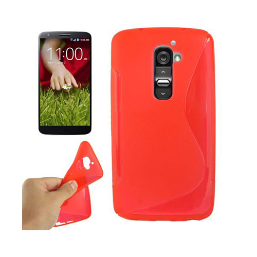 S-Line (Röd) LG G2 Skal