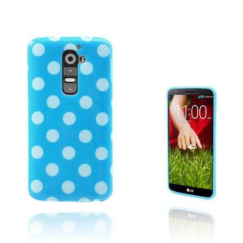 Polka Dots (Blå) LG G2 Skal