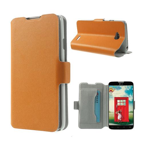 Bellman (Orange) LG L70 Flip-Fodral (Äkta Läder)