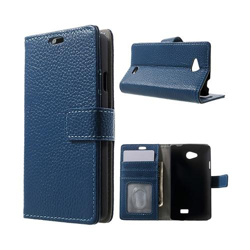 Cowhide (Blå) LG F60 Flip-Fodral (Äkta Läder)