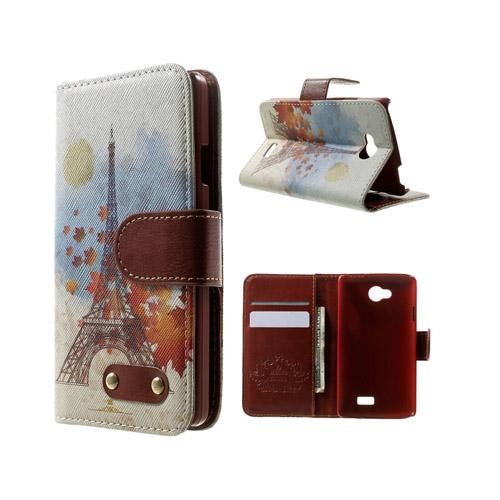 Hagerup LG F60 Fodral med Plånbok – Eiffeltornet & Lönn Löv