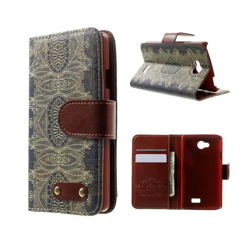 Hagerup LG F60 Fodral med Plånbok – India Blomma Stil