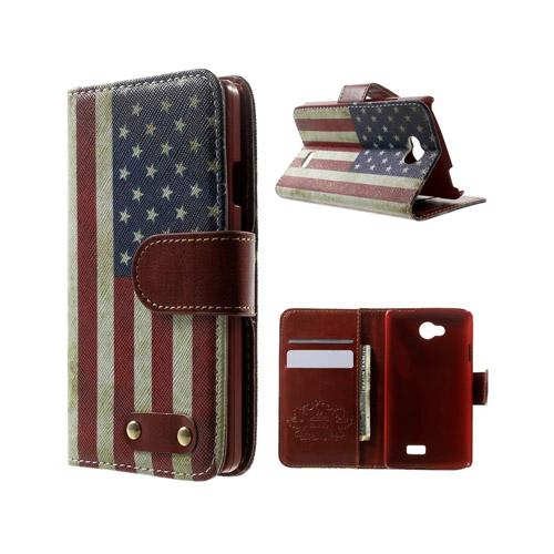 Hagerup LG F60 Fodral med Plånbok – Vintage USA Flaggaga