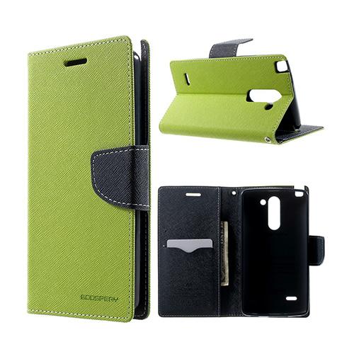 Mercury LG G3 Stylus Läder Flip Fodral – Grön