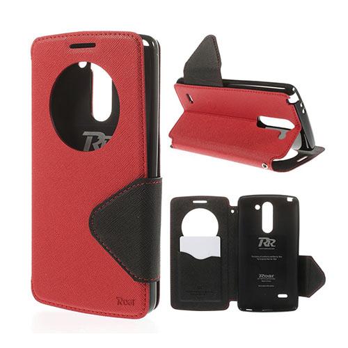 Roar Korea LG G3 Stylus Läder Flip Fodral – Röd