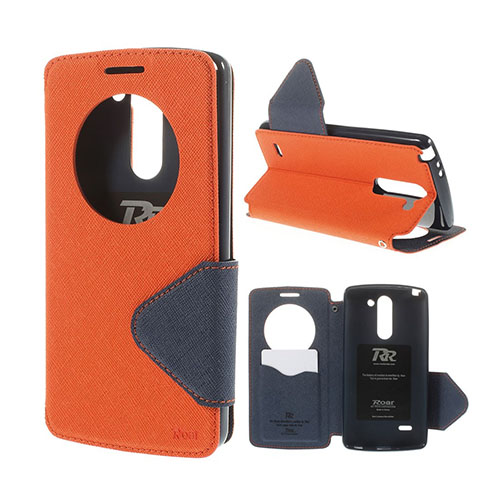 Roar Korea LG G3 Stylus Läder Flip Fodral – Orange