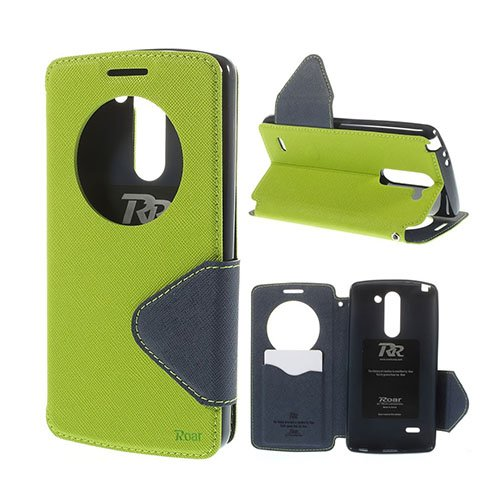 Roar Korea LG G3 Stylus Läder Flip Fodral – Grön
