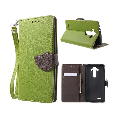 Theorin LG G4 Läder Fodral med Korthållare – Grön