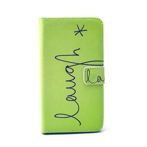 Moberg LG G4 Fodral med Plånbok – Grön Skratt i Text
