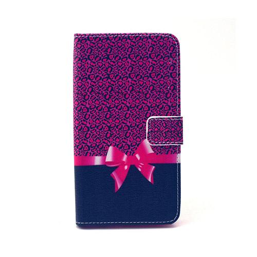 Moberg LG G4 Fodral med Plånbok – Lila Mönster & Fluga