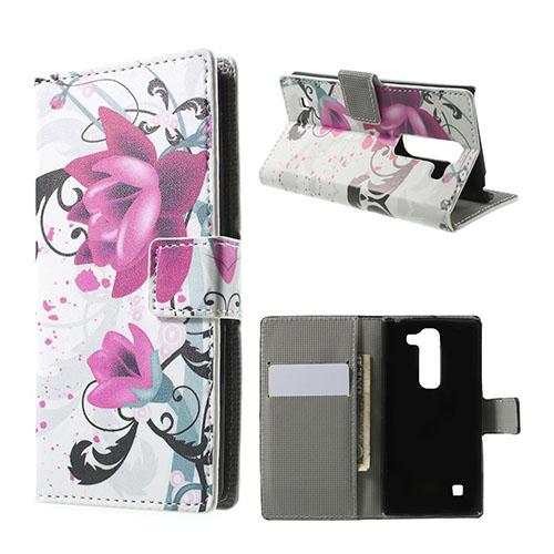 Moberg LG Spirit Fodral med Plånbok – Het Rosa Blomma