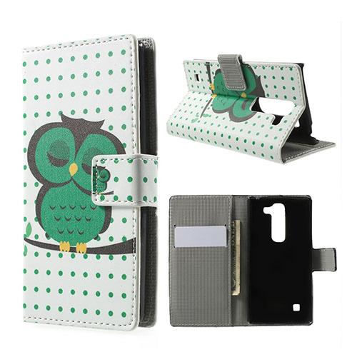 Moberg LG Spirit Fodral med Plånbok – Grön Sovande Uggla