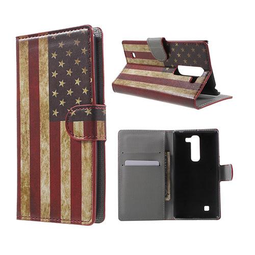 Moberg LG G4c Fodral med Plånbok – USA Flagga