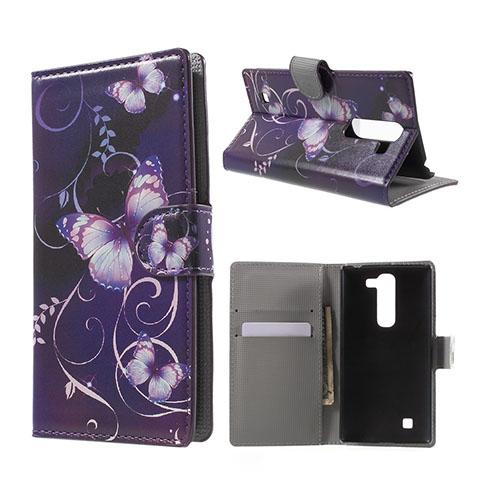 Moberg LG G4c Fodral med Plånbok – Lila Blommor