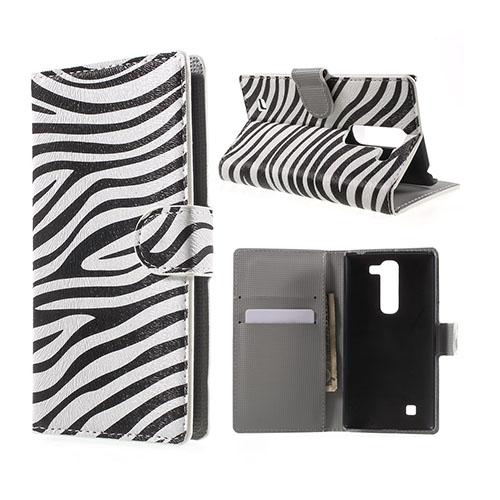 Moberg LG G4c Fodral med Plånbok – Zebra