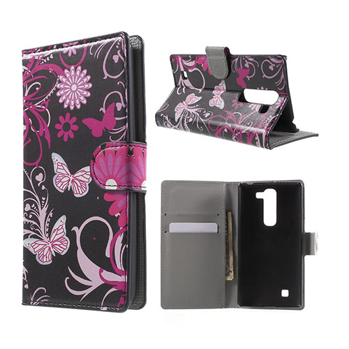 Moberg LG G4c Fodral med Plånbok – Fjärilar & Blommor