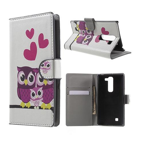 Moberg LG G4c Fodral med Plånbok – Tre Ugglor & Hjärtan