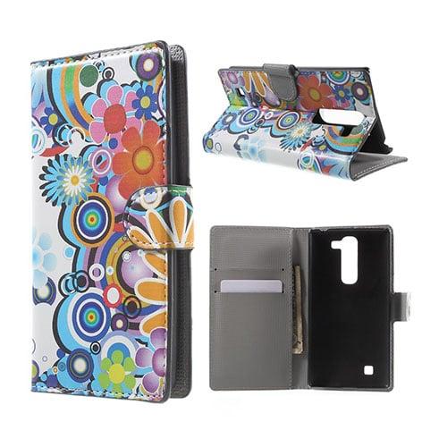 Moberg LG G4c Fodral med Plånbok – Färgglada Blommor