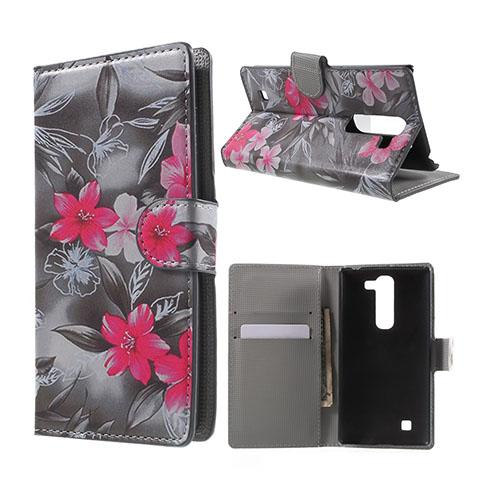 Moberg LG G4c Fodral med Plånbok – Röda Blommor