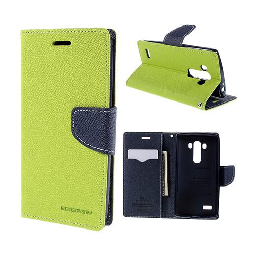Mercury LG G4s Läderfodral med Plånbok – Grön