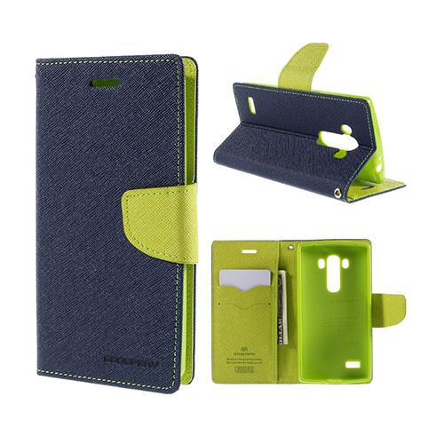 Mercury LG G4s Läderfodral med Plånbok – Mörkblå