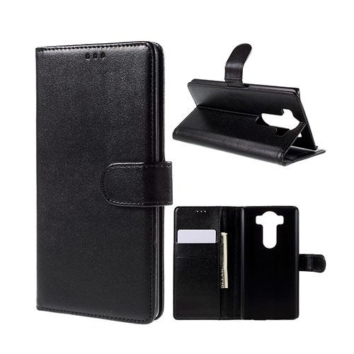Leather Phoenix LG V10 Läderfodral med Stativ och Korthållare – Svart
