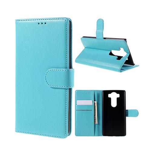 Leather Phoenix LG V10 Läderfodral med Stativ och Korthållare – Ljusblå